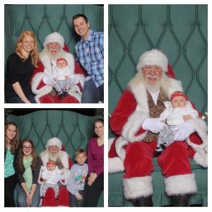 Anna meets Santa!
